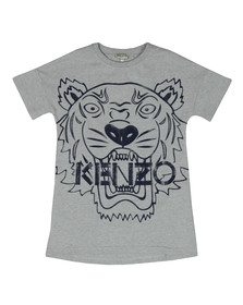 Kenzo Kids Girls Grey Large Tiger Print Dress