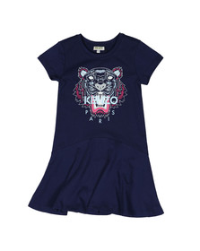 Kenzo Kids Girls Blue Tiger Print Dress