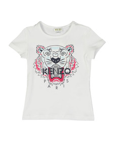 Kenzo Kids Girls White Tiger Print T Shirt