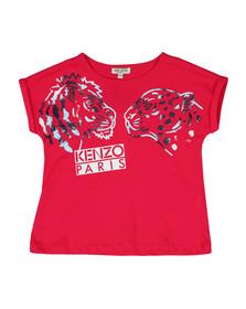 Kenzo Kids Girls Pink Tiger & Lion Tee