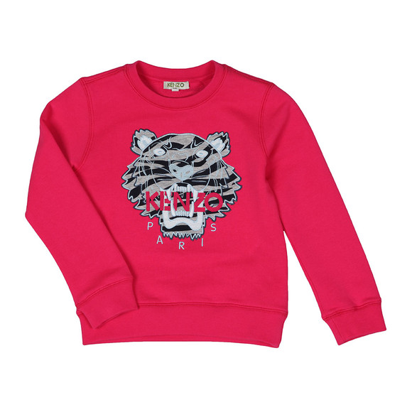 Kenzo Kids Girls Pink Tiger Sweatshirt main image