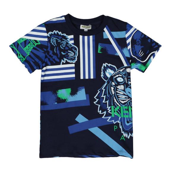 Kenzo Kids Boys Blue Tiger & Friends T Shirt main image