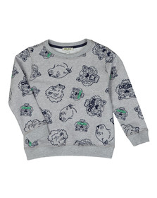 Kenzo Kids Boys Grey Tiger & Lion Sweatshirt