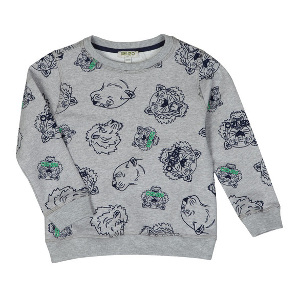 Kenzo Kids Boys Grey Tiger & Lion Sweatshirt main image