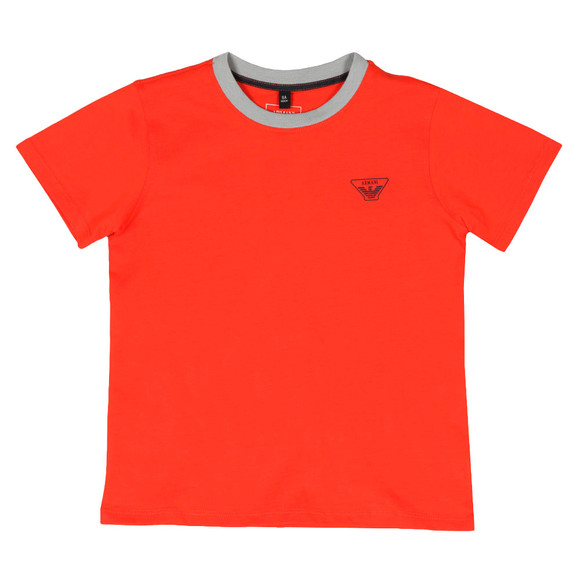 Armani Junior  Boys Orange 3Z4T11 Ringer T Shirt main image