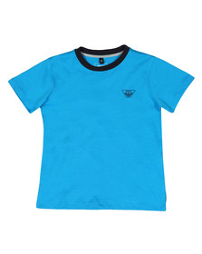 Armani Junior  Boys Blue 3Z4T11 Ringer T Shirt