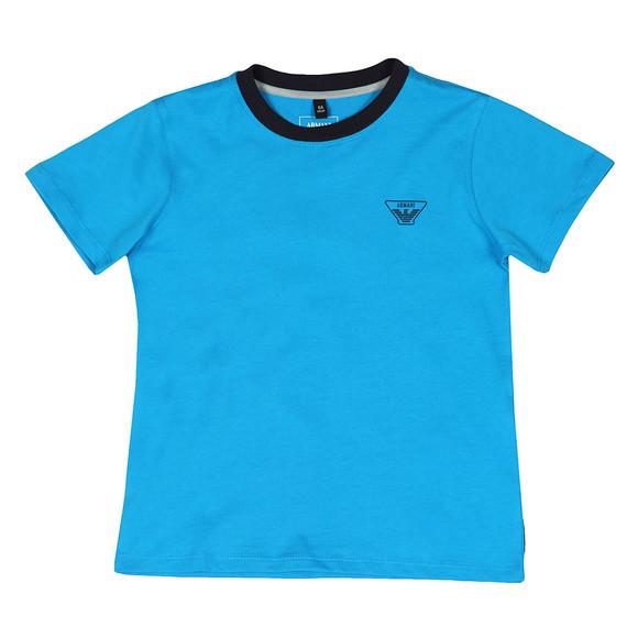 Armani Junior  Boys Blue 3Z4T11 Ringer T Shirt main image