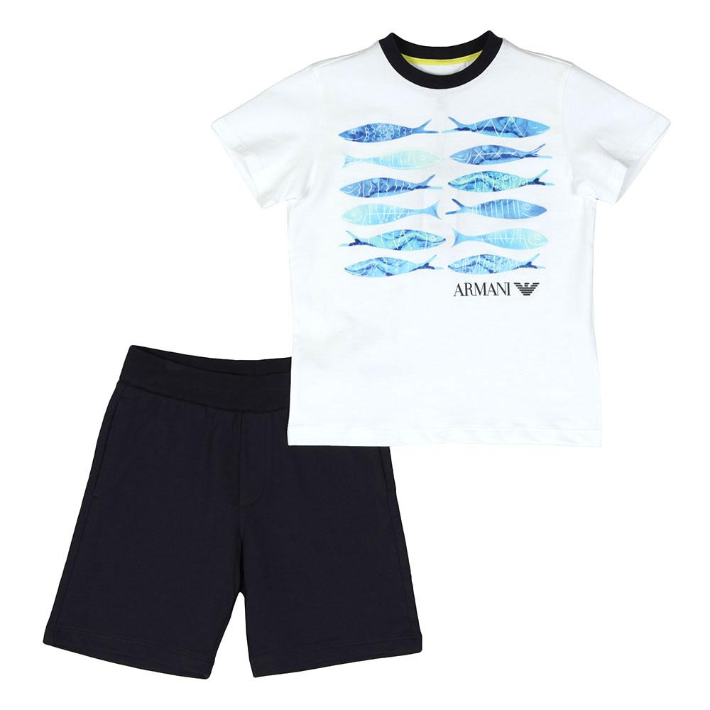 Fish Logo T Shirt & Short Set main image