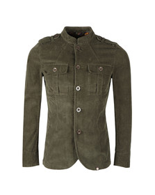 Pretty Green Mens Beige Crawley Cord Jacket