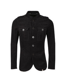 Pretty Green Mens Black Crawley Cord Jacket