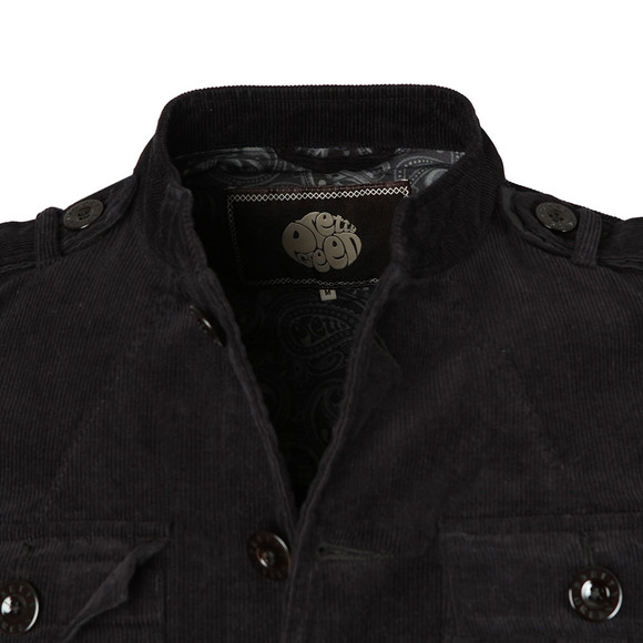 Pretty Green Mens Black Crawley Cord Jacket main image