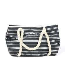 Superdry Womens Blue Bayshore Stripe Beach Tote Bag