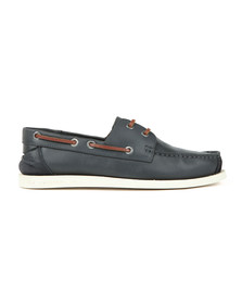 Superdry Mens Blue Leather Deck Shoe