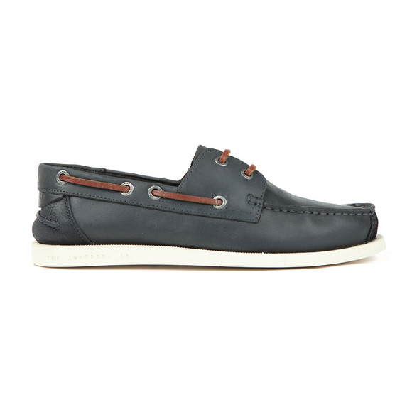 Superdry Mens Blue Leather Deck Shoe main image