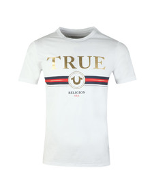 True Religion Mens White True T Shirt
