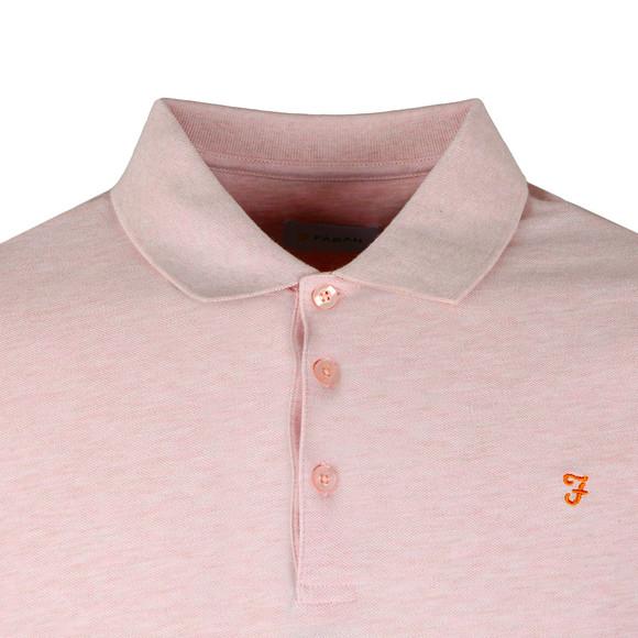 Farah Mens Pink Blaney Polo Shirt main image