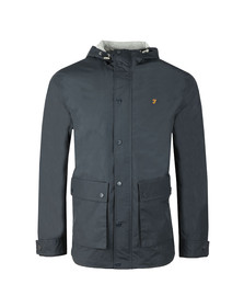 Farah Mens Blue Rourke Zip Hooded Jacket