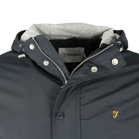 Farah Mens Blue Rourke Zip Hooded Jacket main image