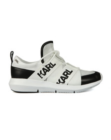 Karl Lagerfeld Womens Black Legere Strap Mesh Trainer