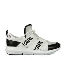 Karl Lagerfeld Womens Black Legere Strap Mesh Trainer