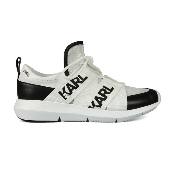 Karl Lagerfeld Womens Black Legere Strap Mesh Trainer main image