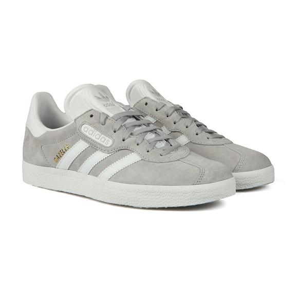 adidas Originals Mens Grey Gazelle Super Essential Trainer main image