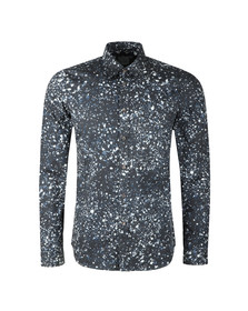 PS Paul Smith Mens Blue L/S Print Shirt