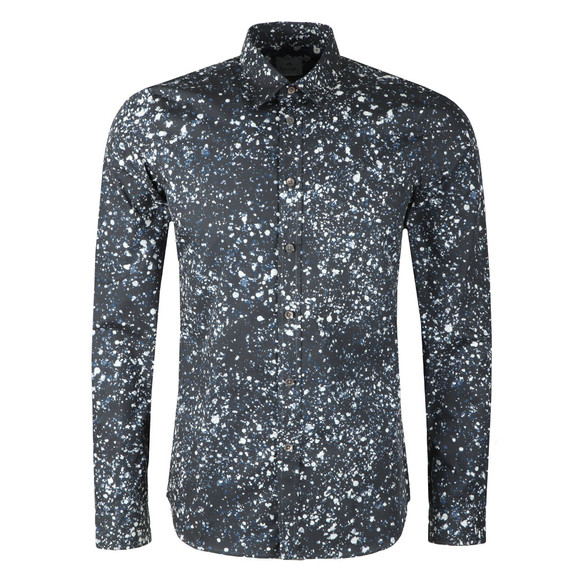 PS Paul Smith Mens Blue L/S Print Shirt