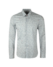 PS Paul Smith Mens White L/S Print Shirt