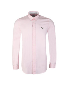 PS Paul Smith Mens Pink L/S Zebra Shirt