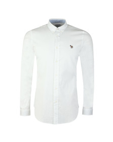 PS Paul Smith Mens White L/S Zebra Shirt