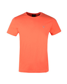 Gant Mens Orange Gant Solid Crew Neck T-Shirt