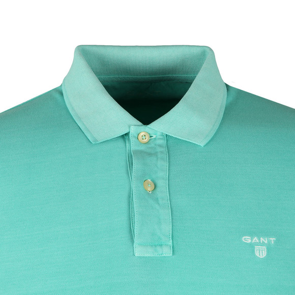Gant Mens Turquoise Sunbleached Pique Rugger Polo main image