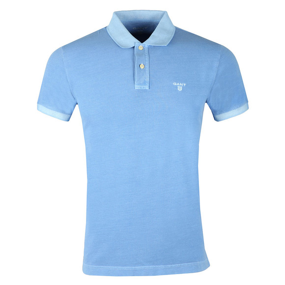 Gant Mens Blue Sunbleached Pique Rugger Polo main image