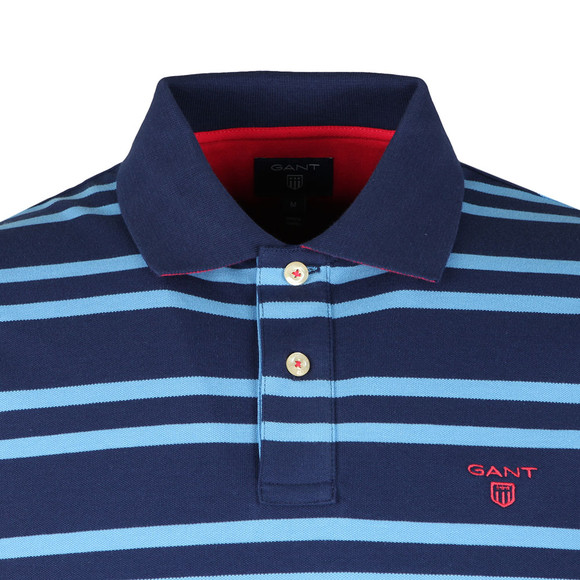 Gant Mens Blue S/S 3 Col Rugger Polo main image