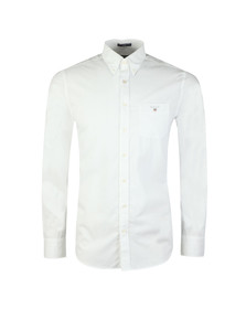 Gant Mens White Broadcloth Plain Shirt