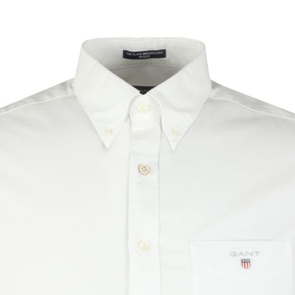 Gant Mens White Broadcloth Plain Shirt main image