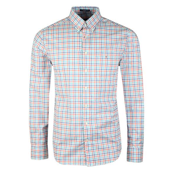 Gant Mens Orange L/S Broadcloth 3 Col Shirt main image