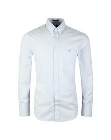 Gant Mens Blue L/S Broadcloth Banker Shirt