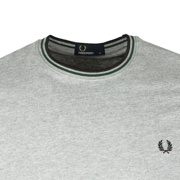 Fred Perry Mens Grey Twin Tipped T-shirt main image