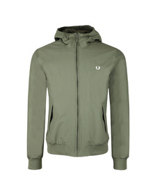 Fred Perry Mens Green Hooded Brentham Jacket