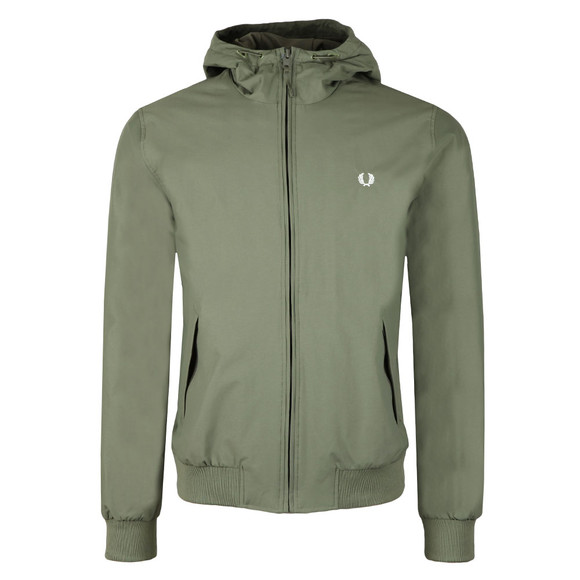 Fred Perry Mens Green Hooded Brentham Jacket main image