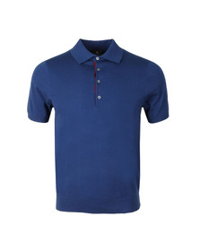 PS Paul Smith Mens Blue S/S Knitted Polo