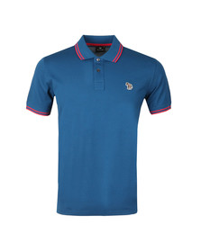 PS Paul Smith Mens Blue S/S Tipped Polo