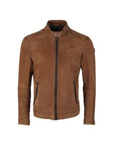 BOSS Orange Mens Brown Jondrix Leather Jacket