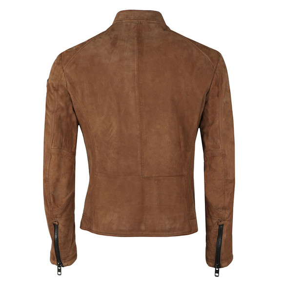 Boss Mens Brown Jondrix Leather Jacket main image