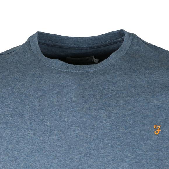 Farah Mens Blue S/S Denny Marl T-Shirt main image