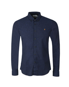 Farah Mens Blue Steen Slim LS Shirt