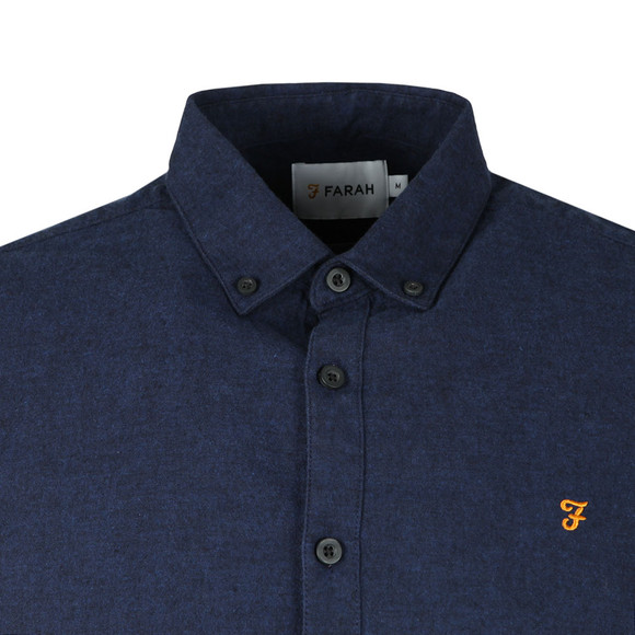 Farah Mens Blue Steen Slim LS Shirt main image