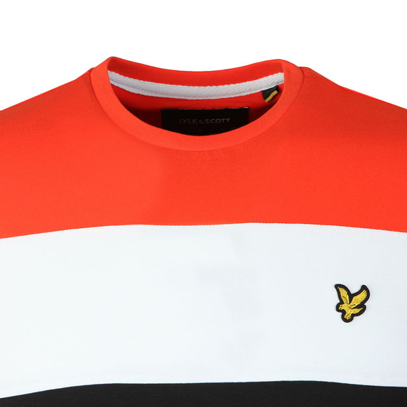 Lyle and Scott Mens Black S/S Block Stripe Tee main image